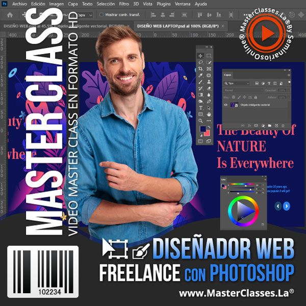 Curso Diseñador Web Freelance con Photoshop